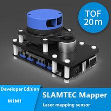 Mapeador rplidar slamtec m1m1, mapa de construção e posicionamento de slam tof de 20 metros lidar com ros