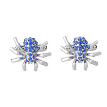 Classic Crystal Spider Cufflinks For Men High Quality Male French Shirt Cuff Links For Men's Jewelry Birthday Wedding Gift classic crystal spider cufflinks for men high quality male french shirt cuff links for men s jewelry birthday wedding gift