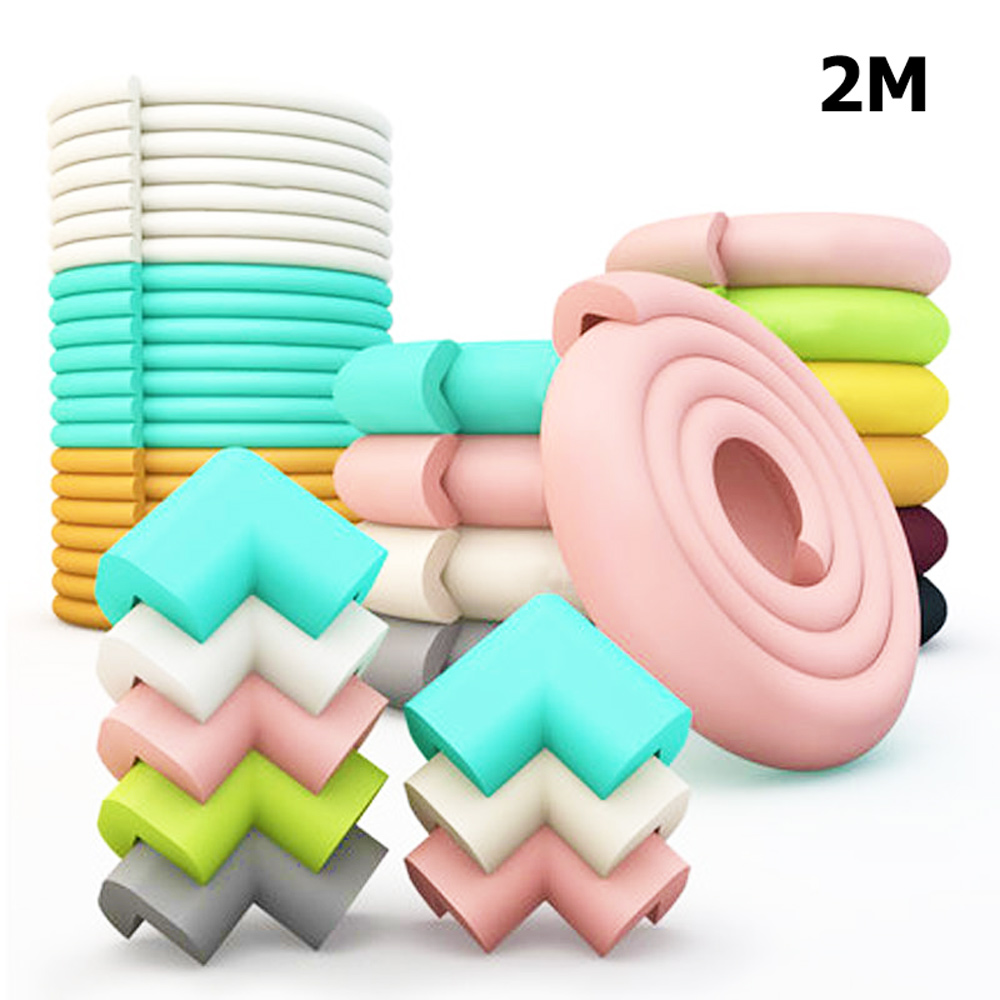 2M Baby Safety Protection Strip Home Table Desk Edge Guard Strip Corner Protector Furniture Corners Foam Protection Cheap Goods