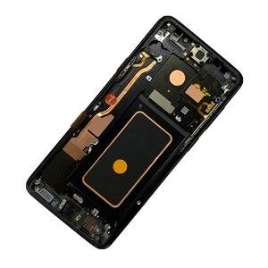 Image 2 - Orijinal AMOLED çerçeve Samsung Galaxy S9 artı G965A G965U G965F G965V ile LCD ekran dokunmatik ekran nokta meclisi