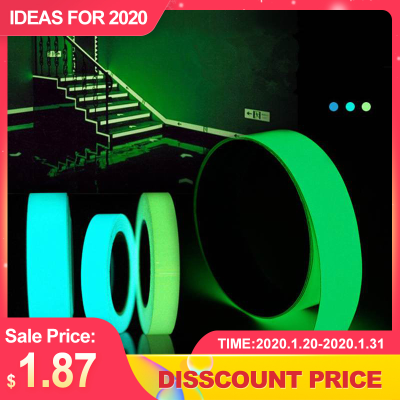 5mx15mm Luminous Tape Self-adhesive Green Blue Glowing In The Dark Safety  Decor Sticker Decoration Tape Security Home