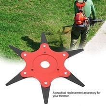 6 Steel Razor Manganese Stee Lawn Mower 65Mn Coil Chain Trimmer Head Grass Durable Yard Spring Brush Cutter