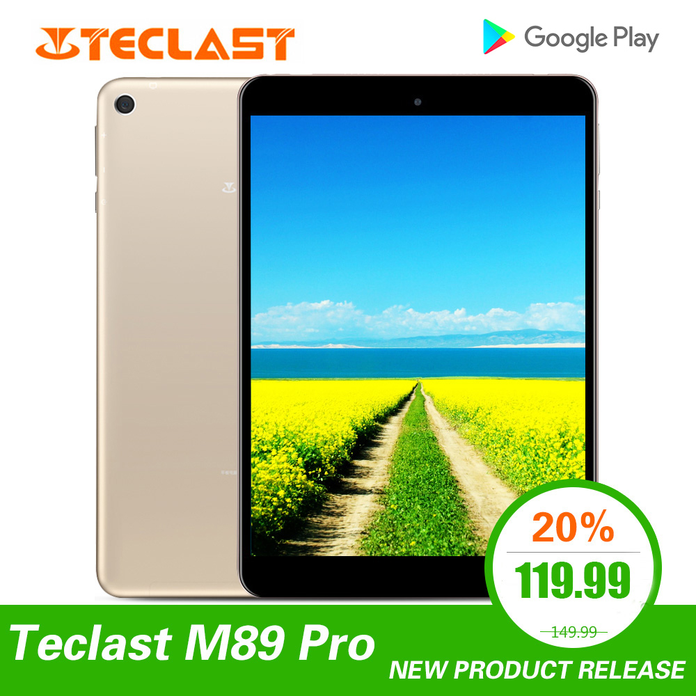 Teclast M89 Pro 7.9 inch 3GB RAM 32GB ROM IPS X27 Deca Core 5.0MP 2048×1536 Type-C 2.4G+5G Dual-band WiFi Metal Thin Tablet PC image