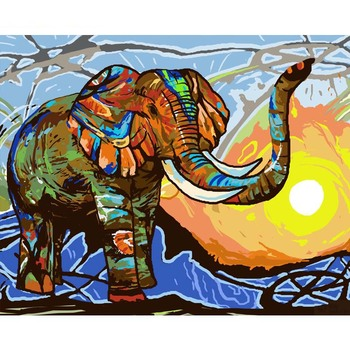 Modern Elephant Animal Paint By Numbers Alca Cartel