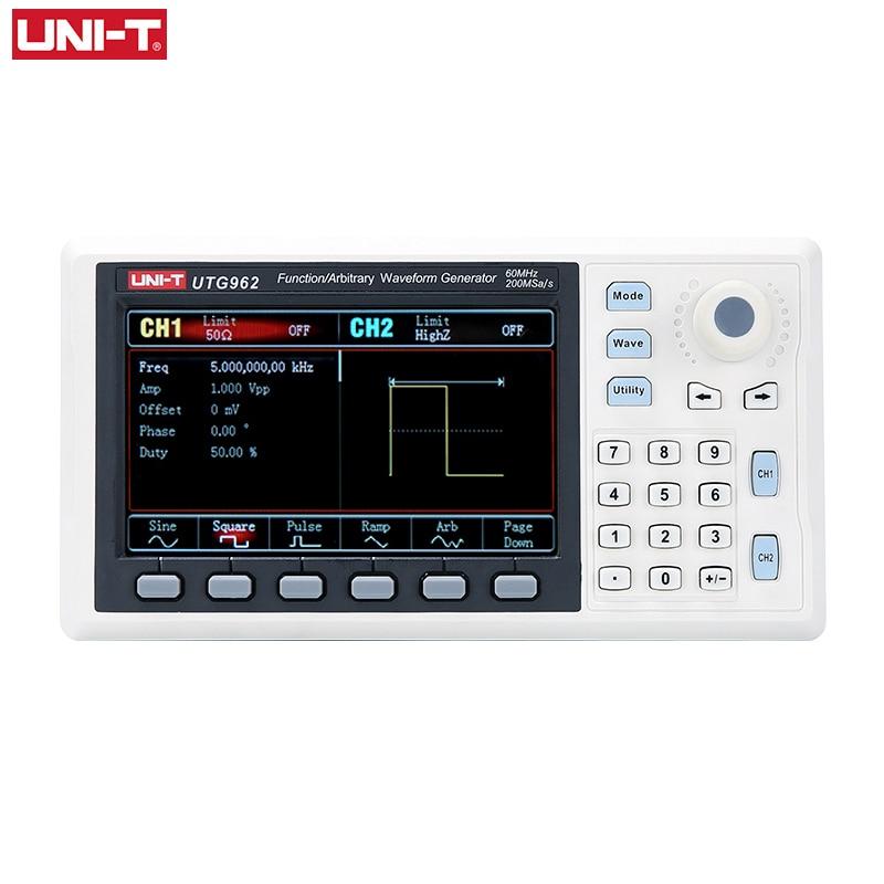 UNI-T UTG932 UTG962 функция произвольной формы генератора сигналов двухканальный 200 мкс/с 14-битный измеритель частоты 30 МГц 60 МГц