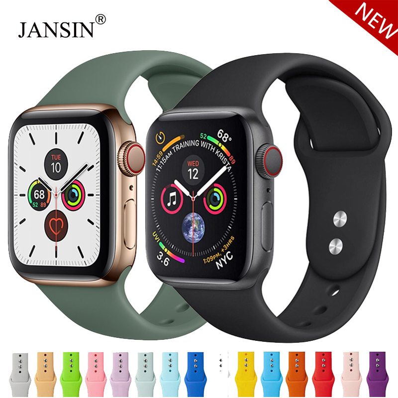 Strap For Apple Watch band 38mm 42mm iWatch 5 band 44mm 40mm Sport Silicone belt Bracelet correa Apple watch 5 4 3 2 Accessories