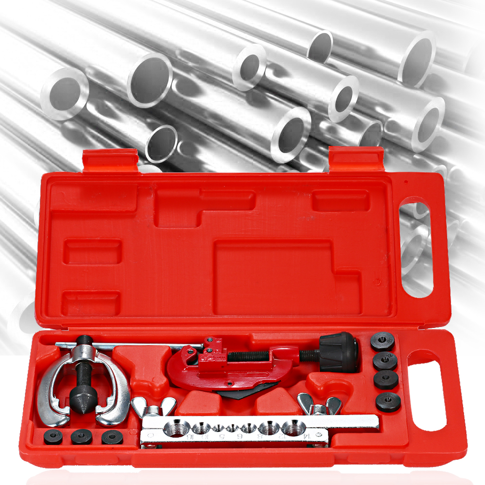 Metric Cutter Tool Kit Copper Brake Fuel Pipe Repair Double Flaring Dies Tool Set For Cutting Flaring Tools For Refrigeration