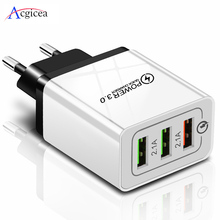 5V 3A chargeur USB Charge rapide 3.0 QC 3.0 adaptateur de Charge rapide 3 USB chargeur de téléphone portable pour iphone XR XS Max X 7 8 chargeurs