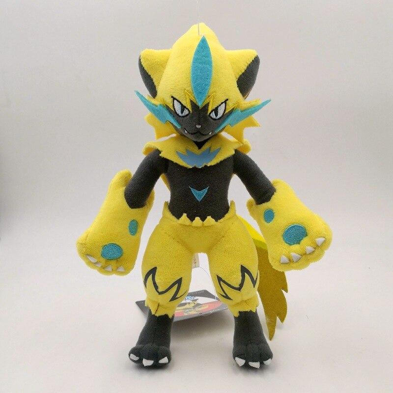 25cm Pokemon Zeraora Plush Cartoon Doll Animal Cool Plush Cotton Doll Child Toy Birthday Gift Anime Toys