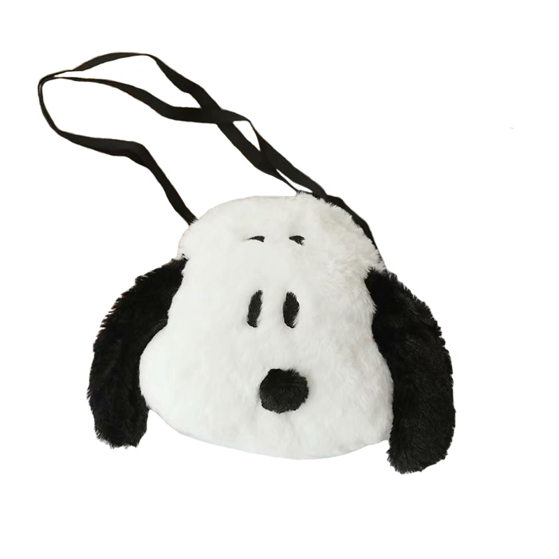 Cartoon My Snoopy Dog Plush Backpack Nordic Style Plush Shoulder Bag Snooby Gifts For Kids Make Up Bag
