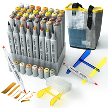 40 Colors Alcohol Brush Marker Arrtx OROS Yellow Tune Marker Pen Perfect for Light, Flame, Harvest Wheat Fields, Fallen leaves