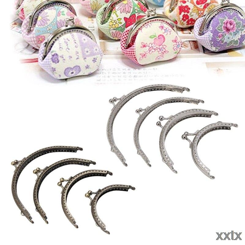 Frame Kiss Clasp Lock Retro Metal Flower Purse Bag DIY Craft Bronze Silver 1PC A69C