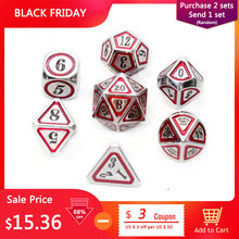 Chengshuo rpg dice dungeons and dragons table games sales promotion polyhedral metal dices Zinc alloy new style number dices(China)