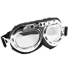 OcioDual очки мотоцикл Авиатор Тип защитный УФ винтажный Ретро-объектив прозрачные байкерские линзы прозрачная защита классический
