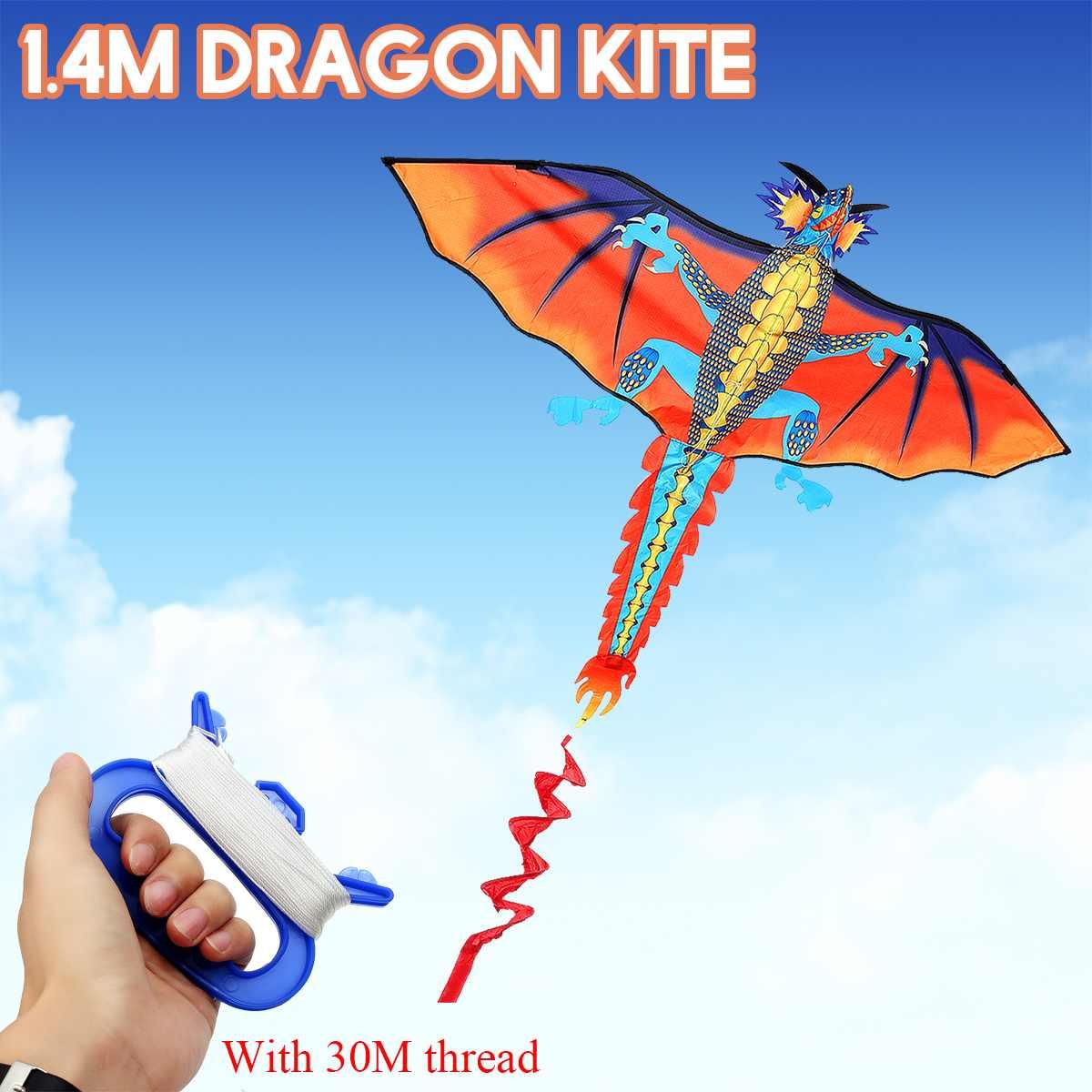 3D Dragon cerf-volant costume ligne unique avec queue cerfs-volants en plein air amusant jouet cerf-volant famille Sports de plein air jouet enfants
