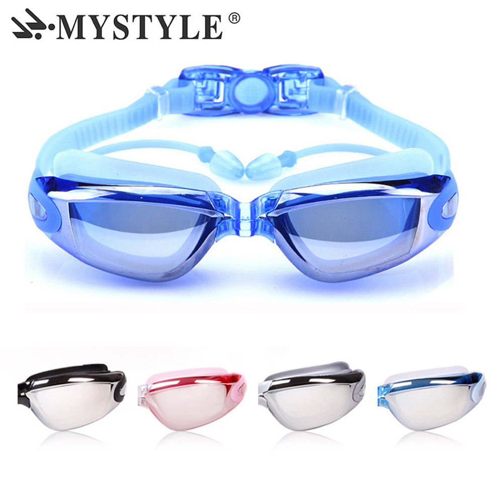 Professional Swimming Goggles Myopia Men Women Anti Fog Waterproof Silicone Arena Pool Swimming Glasses Diopter Sports Eyewear in Swimming Eyewear from Sports Entertainment
