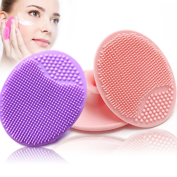 Facial makeup sponge Cleanser Blackhead Facial Clean Silicone Shampoo Brush Shower Massage Wash Pad Face Exfoliating Brushes 1