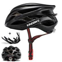 KINGBIKE 2019 kaski rowerowe kobiety mężczyźni MTB kask rowerowy Ultralight integralnie formowane capacetes cascos bicicleta carretera kask tanie tanio (Dorośli) mężczyzn J-652 0 22kg 20 Integrally-molded Helmet Cycling Helmet bicycle helmet bike helmet Man and woman bike helmet