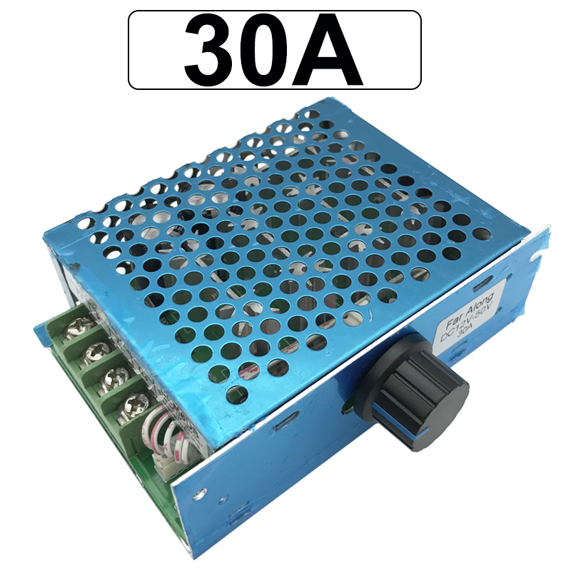 12V 24V <font><b>36V</b></font> PWM DC <font><b>Motor</b></font> Speed Controller 30A 12V-50V With Speed Control Switch Use For DC <font><b>Brushed</b></font> <font><b>Motor</b></font> image