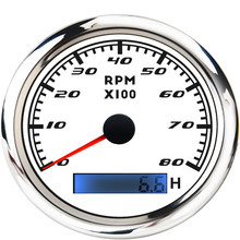 New Engine 85mm Tachometer Gauge With Hourmeter Waterproof 3000 ~ 8000 RPM Tacho Hour Meter Sensor For Marine Car Boat Motor