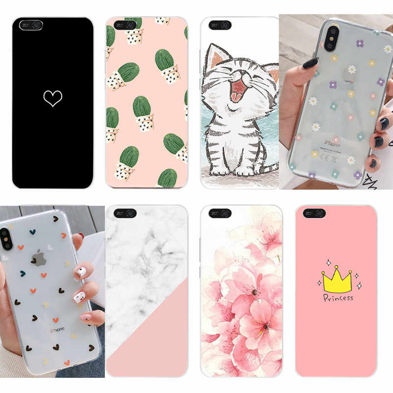 Silicone TPU Case For Huawei Y6 2018 Honor 7 A DUA-L22 5.45''Cover Soft Flower Pattern Phone Case For Huawei Y6 Y 6 Prime 2018