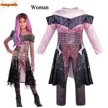 Audrey Costumes  Woman Halloween for Fancy Party Dress Up Costume Jumpsuits Mal Cosplay Anime Fantasia