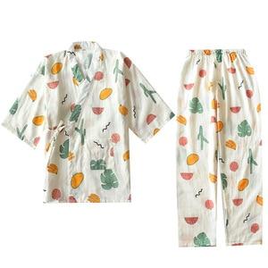 Image 5 - KISBINI Autunno Pigiama Imposta Per Le Donne Femminile Solido Vestiti A Casa il Vestito di Cotone Lungo Stile Giapponese Signore Homewear Primavera Pigiama