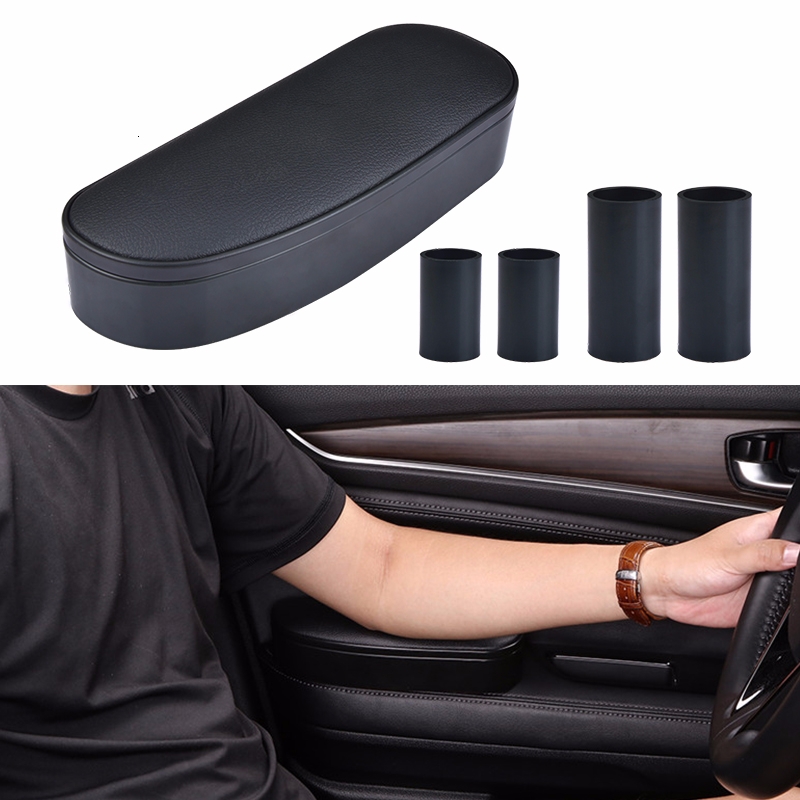 Car Elbow Support Left Hand Armrest Anti Slip Mat Storage Box Anti-fatigue Left Hand Armrest Rest Support Universal