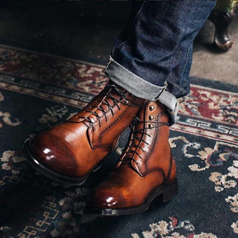 Masorini hommes bottes en cuir Pu chaussures d'hiver mode