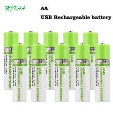 5/10PCS USB Rechargeable Battery AA 1.5V 1450mAh Quick Charging Li-po Quality Batteries Bateria RoHS CE