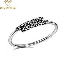 XIYANIKE-pulsera Vintage de apertura sencilla para mujer, brazaletes de plata de ley 925 para amantes, joyas de boda de última moda, accesorios
