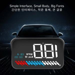 Image 3 - Автомобильное универсальное двойное Автомобильное зарядное Системы HUD Дисплей OBD II/GPS Интерфейс автомобиля Скорость миль в час) или км/ч и двигателя (об/мин) над Скорость Предупреждение пройденное расстояние в милях