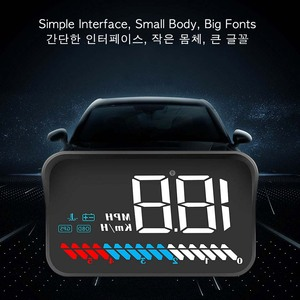 Image 3 - Car Universal Dual System HUD Head Up Display OBD II/GPS Interface Vehicle Speed MPH KM/h Engine RPM OverSpeed Warning Mileage