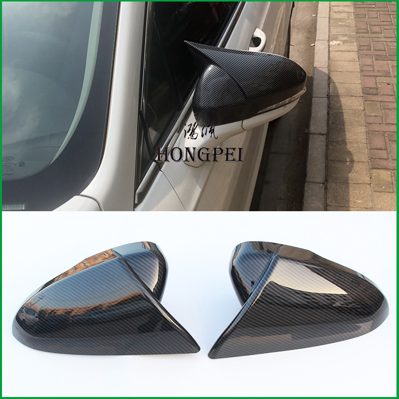 2x ABS Chrome Rearview Side Mirror Cover Trim Emblems For RAV4 2013-2019