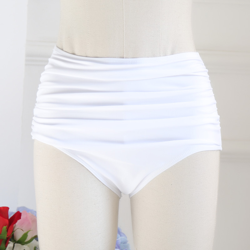 New Style Alone Women's High-waisted Belly Covering Slimming Triangular Swimming Trunks Bikini Versatile Swimming Trunks Women's