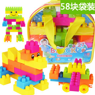Large particle building blocks educational toy bag baby assembled early education plastic enlightenment building blocks nfstrike upgraded electronic building blocks diy toy assembled bricks toy circuits baby kids early educational development toys