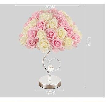 Estudo criativo rosa candeeiro de mesa quarto