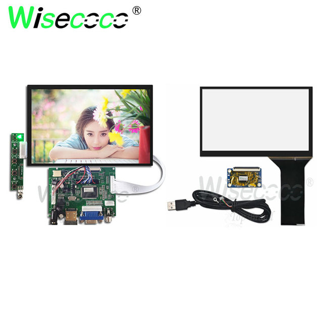 Wisecoco táctil IPS de 7 pulgadas LCD 1280*800 pantalla raspberry pi N070ICG-LD1 con HDMI + VGA + 2AV Placa de controlador