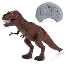 Светодиодный светильник, ходячий динозавр, детская игрушка, фигурка, звук, настоящее движение, подарки