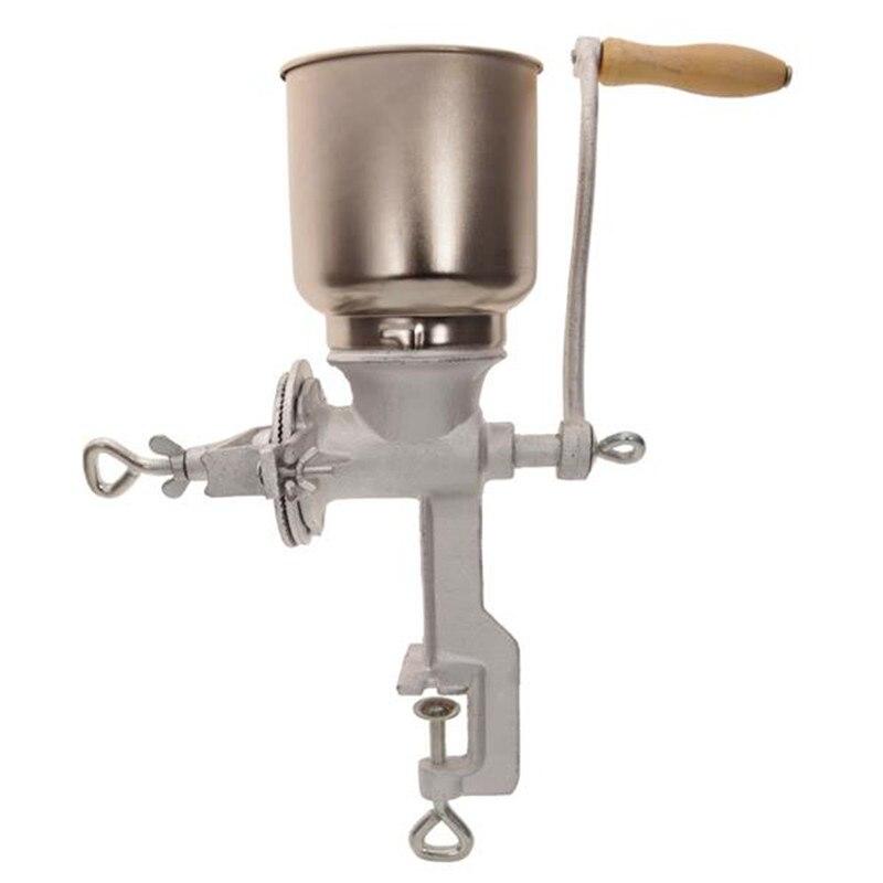 Manuel tahıl baharat 500 # ev kullanımı el krank kullanım tahıl değirmeni gümüş kahve kuru gıda değirmeni değirmen taşlama makinesi