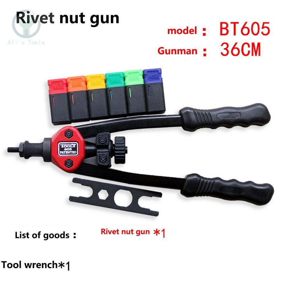 Rivet Nut Gun Manual Riveter Gun M3 M4 M5 M6 M8 M10 M12 Heavy Hand Inser Nut Tool Manual Mandrels