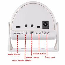 Wireless Doorbell Chime Alarm PIR Motion Sensor Infrared Detector Entry Security 831F doberman security entry defender with chime infrared motion detection home alert sensor ir doorbell home security alarm system