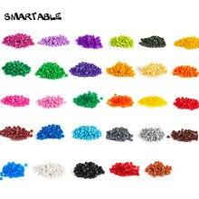 Smartable объемная пластина 1x1 круглый строительные блоки 31 цвет MOC часть игрушка для пикселя искусства Портрет свет совместимый 6141 4750 шт./лот