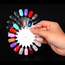 10/50Pcs Half Artificial False Nail Decoration Fake Art Tips Acrylic Polish Nails Designs Manicure Practice Tool