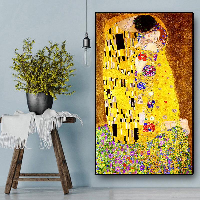 Classic-Artist-Gustav-Klimt-kiss-Abstract-Oil-Painting-on-Canvas-Print-Poster-Modern-Art-Wall-Pictures (1)