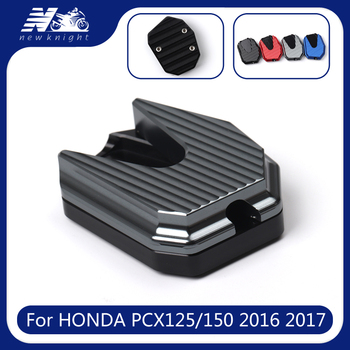 Brand New For Honda PCX125 PCX150 PCX 125 PCX 150 2016 2017 Scooter Side Stand Pad Plate Kickstand Enlarger Support Extension image