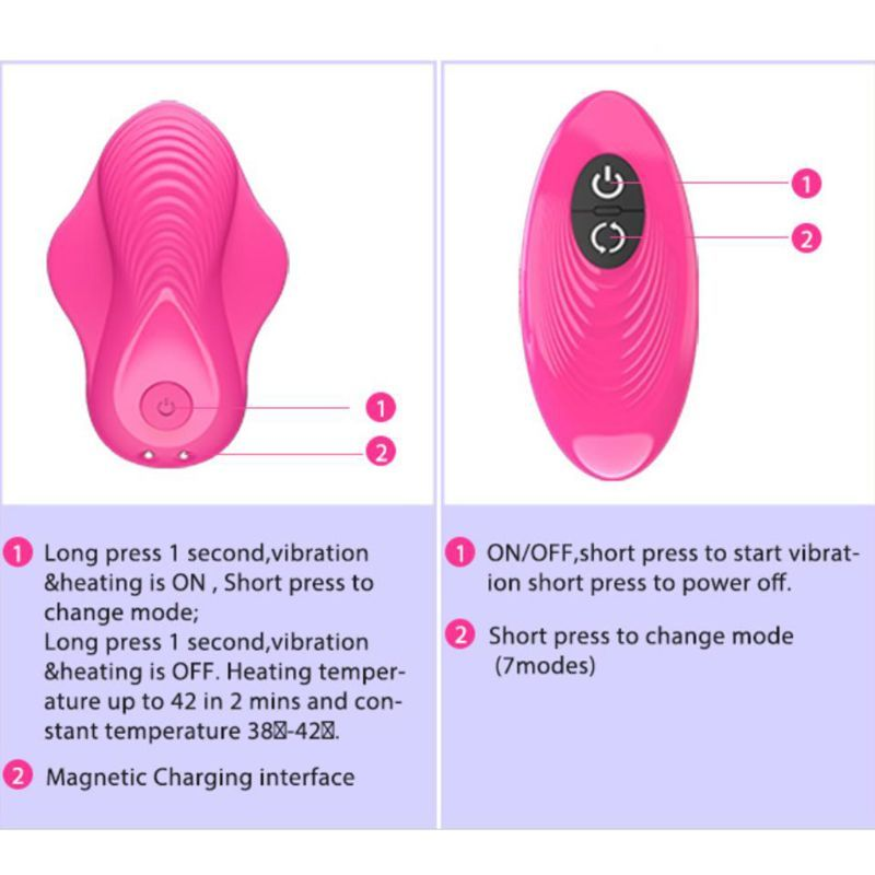 USB Rechargeable 7 Frequency Wearable Butterfly Licking Vibrator G spot Wireless Remote Control Clitoris Stimulation Massager in Vibrators from Beauty Health