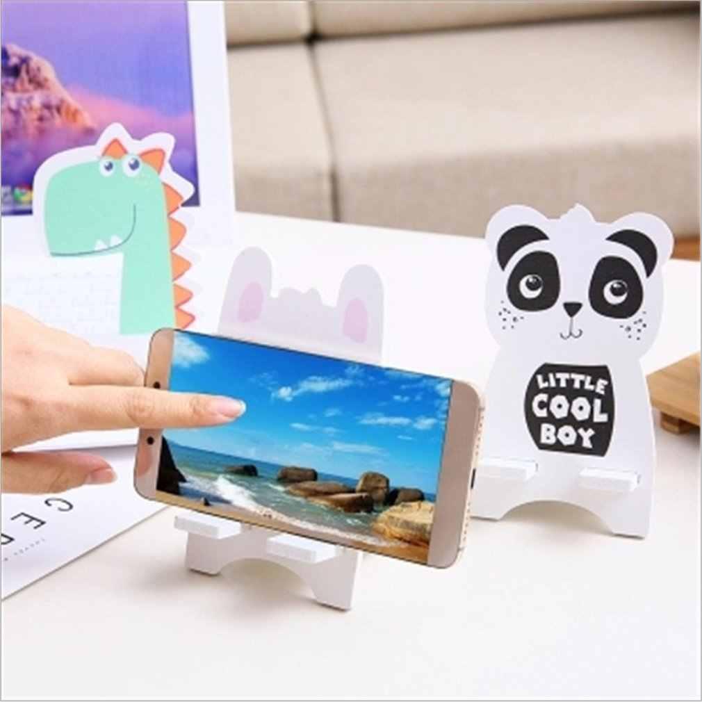 حامل هاتف لطيف الحيوان قابل للتعديل ل فون 7 8 X لسامسونج ل Xiaomi الهاتف المحمول اللوحي حامل مكتبي حامل حامل جوّال بلاستيكي