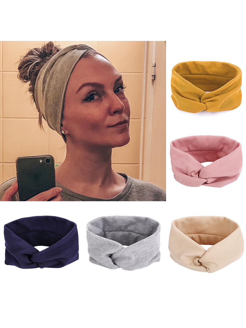 Elastic Headband Hair-Accessories Solid-Hair-Band Sports Cotton Fashion Women Ladies