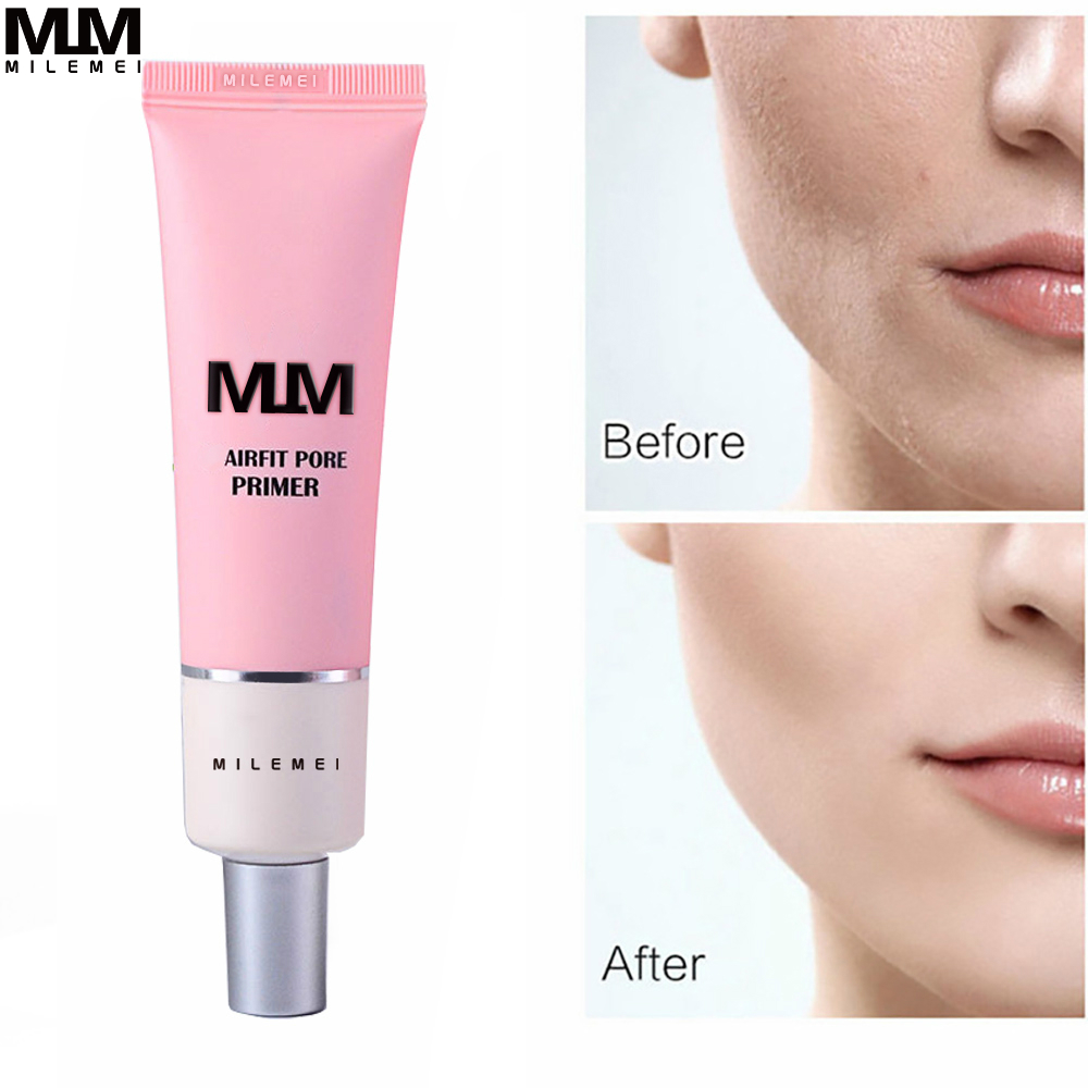 W Airfit Pore Primer Face Brighten Cream Pore Rose Concealer Base Before Facial New Skin Korea For Primer Makeup Essence